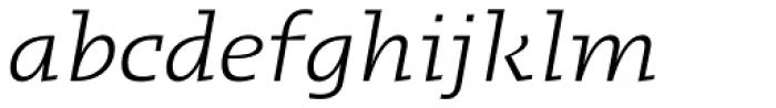 Kotto Slab Book Italic Font LOWERCASE