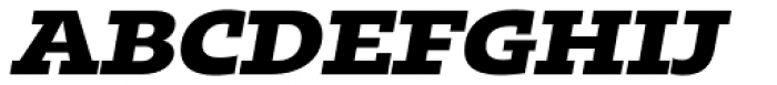 Kotto Slab Extra Bold Italic Font UPPERCASE