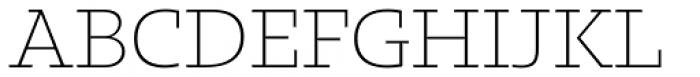 Kotto Slab Extra Light Font UPPERCASE