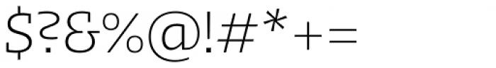 Kotto Slab Light Font OTHER CHARS