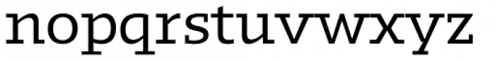 Kotto Slab Regular Font LOWERCASE