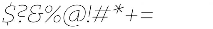 Kotto Slab Thin Italic Font OTHER CHARS
