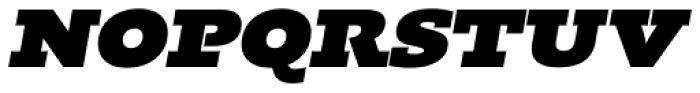 Kotto Slab Ultra Italic Font UPPERCASE