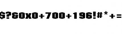 Kolinear Black Font OTHER CHARS