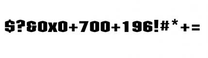 Kolinear Bold Font OTHER CHARS