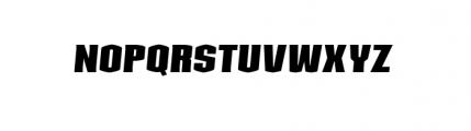 Kolinear BoldItalic Font UPPERCASE