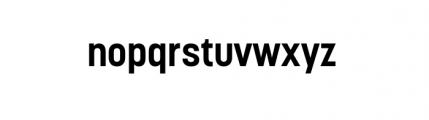 Korolev Complete Bold Font LOWERCASE