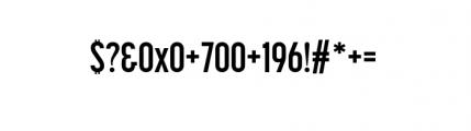 Korolev Complete Compressed Bold Font OTHER CHARS