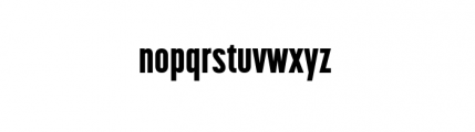 Korolev Complete Compressed Heavy Font LOWERCASE