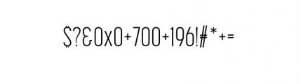 Korolev Complete Compressed Light Font OTHER CHARS