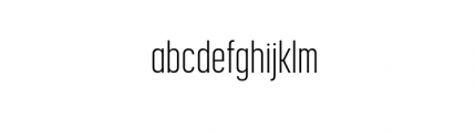 Korolev Complete Compressed Light Font LOWERCASE