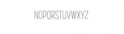 Korolev Complete Compressed Thin Font UPPERCASE