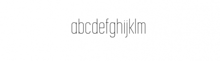 Korolev Complete Compressed Thin Font LOWERCASE