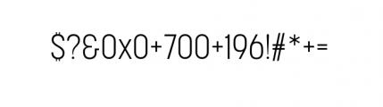 Korolev Complete Condensed Light Font OTHER CHARS