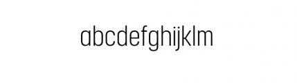 Korolev Complete Condensed Light Font LOWERCASE