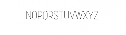 Korolev Complete Condensed Thin Font UPPERCASE