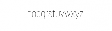 Korolev Complete Condensed Thin Font LOWERCASE