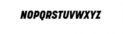 Korolev Complete Heavy Italic Font UPPERCASE