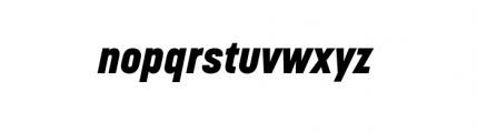 Korolev Complete Heavy Italic Font LOWERCASE