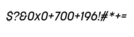 Korolev Complete Medium Italic Font OTHER CHARS