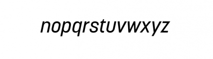 Korolev Complete Medium Italic Font LOWERCASE