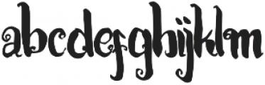 Kracktone otf (400) Font LOWERCASE