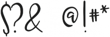 Kruse Calligraphy Regular otf (400) Font OTHER CHARS