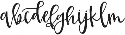Kruse Calligraphy Regular otf (400) Font LOWERCASE