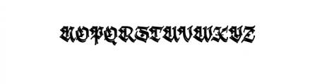 Krakato Fraktur.otf Font UPPERCASE