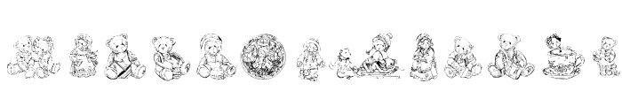KR Adorable Teddies Font LOWERCASE
