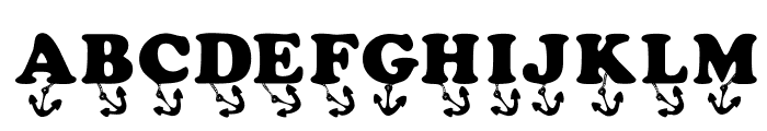 KR Anchors Away Font UPPERCASE