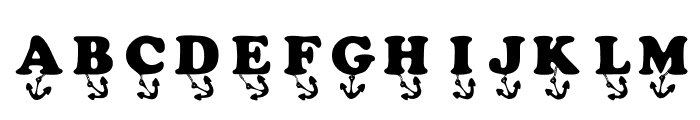 KR Anchors Away Font LOWERCASE