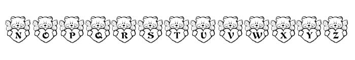 KR Angel Bear Font UPPERCASE