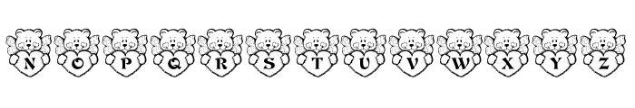KR Angel Bear Font LOWERCASE