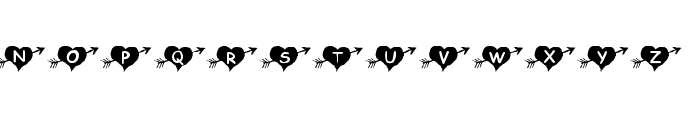 KR Arrow Heart Font LOWERCASE