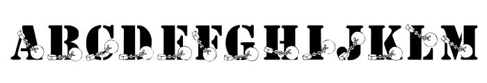 KR Ball N Chain Font UPPERCASE