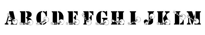 KR Ball N Chain Font LOWERCASE