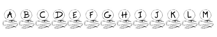 KR Balloon Font UPPERCASE
