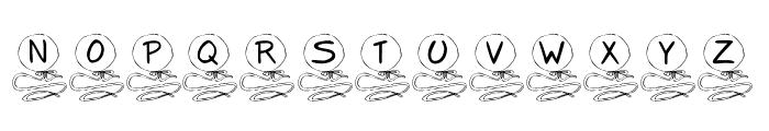 KR Balloon Font LOWERCASE