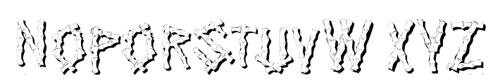 KR Bamboo Font UPPERCASE