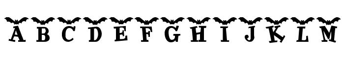 KR Batty Font UPPERCASE