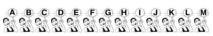 KR B'ball Font UPPERCASE