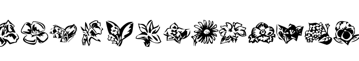 KR Beautiful Flowers 3 Font LOWERCASE