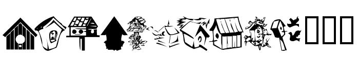 KR Birdhouse Font UPPERCASE