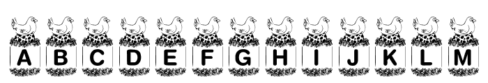 KR Birdy Font UPPERCASE