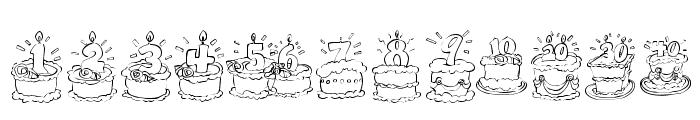 KR Birthday Cake! Dings Font UPPERCASE