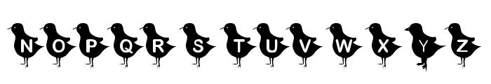 KR Blackbird Font UPPERCASE