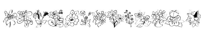 KR Bloom Bonanza Font UPPERCASE