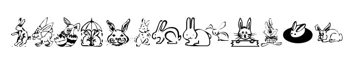 KR Bunny Dings Font UPPERCASE