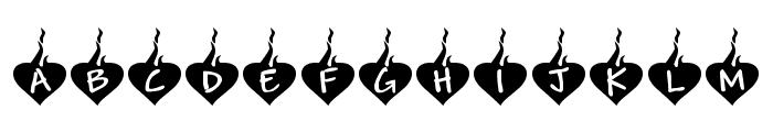 KR Burning Love Font UPPERCASE